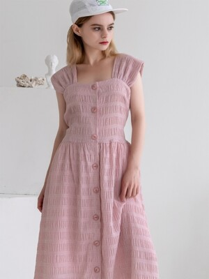 Back Ribbon Sleeveless Dress Pink
