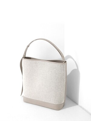 CANVAS BUCKET BAG - IVORY