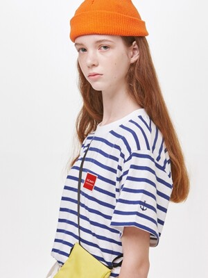 PATCH STRIPE TEE WH