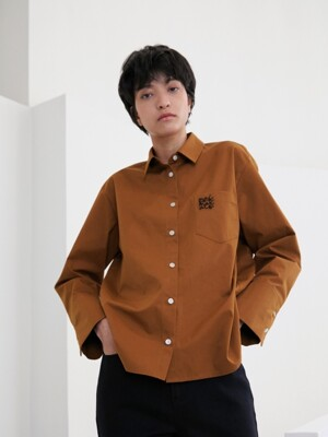 EMBROIDERED SHIRTS [TAN]