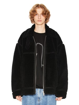 COLLAR SHERPA JACKET black