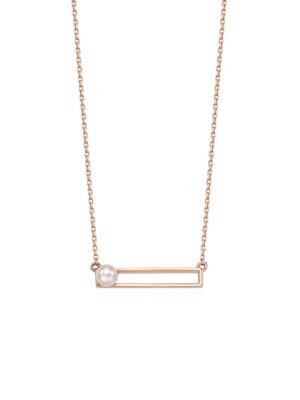 NM9926 Pearl in Square Nacklace