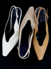 [at SALONDEJU][AT20S01] Wave Slingback - Neutral