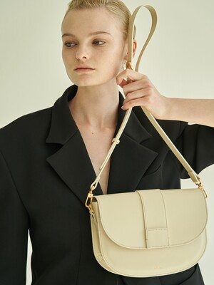 Saddle bag (Ivory) + chain strap set