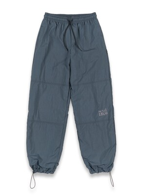Triple Stitched Jogger Pants Gray Blue