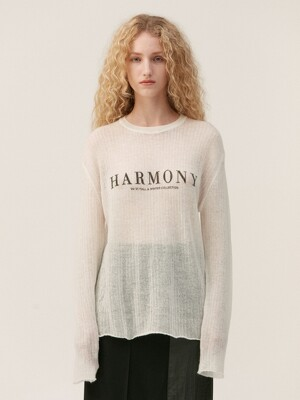 HARMONY SHEER KNIT TOP, WHITE