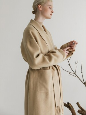 Handmade Wool Long Coat_Beige