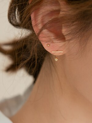 14k gold stick hook ball piercing (14k 골드)