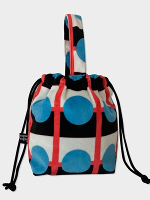 Retro blue string bag