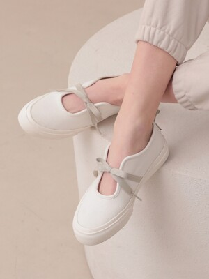 Ribbon Slip-on_White