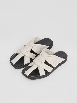 CANVAS STRAP SLIDES (OATMEAL)