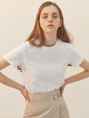 [BREEZE] Premium Basic T-Shirts_WHITE (CTD1)