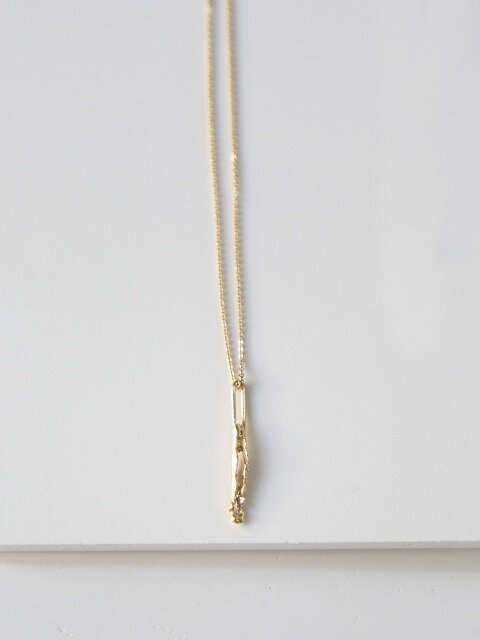 Bone piece necklace - silver,gold