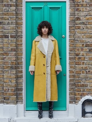 Color Mouton Coat (Yellow, Purple)