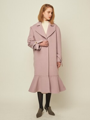 FANCY FLARE COAT Lavender