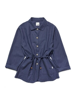 L 2018 Linen String Jacket #Navy