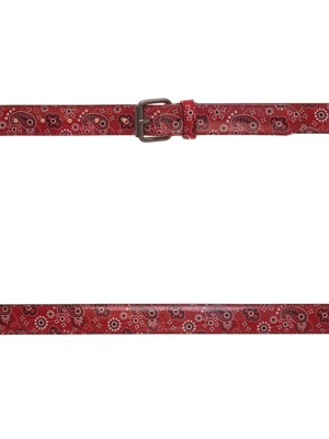 PAISLEY LETHER BELT _ RED