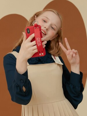 LEATHER STRAP PHONE CASE_red