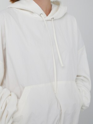 MIX ANORAK HOOD - WHITE