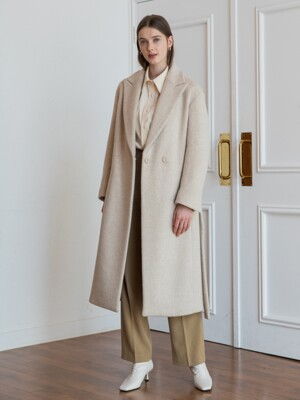 HIDDEN BUTTON LONG COAT_IVORY