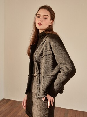 grace tweed jacket[black]
