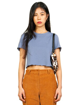PIMA COTTON CROP TEE_BLUE GREY