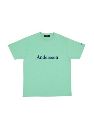 UNISEX ANDERSSON SIGNATURE EMBROIDERY T-SHIRT atb211u_ MINT