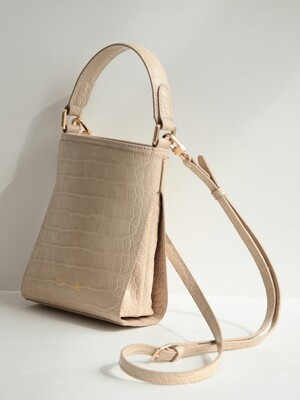 MINI LINK BAG_CROCO NUDE BEIGE