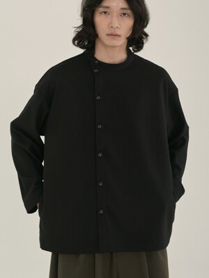 unisex tencel side shirts black