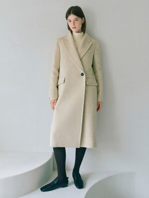 Half-double Long Coat in Ivory