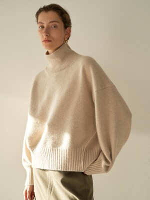 TTW RACCOON TURTLENECK KNIT 4COLOR