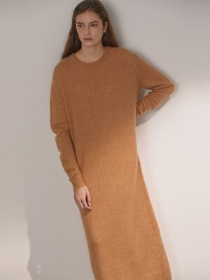 DEMERE MOHAIR LONG DRESS (BEIGE)