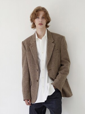 YEOUIDO Relaxed fit blazer (Herringbone)