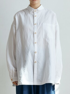 unisex short collar shirts white