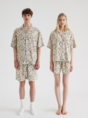 (모달) (couple) Lyon Short Pajama Set