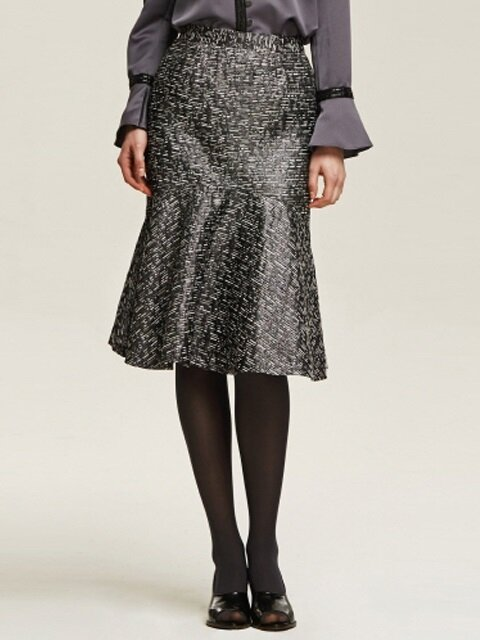Tweed Mermaid Midi Skirt