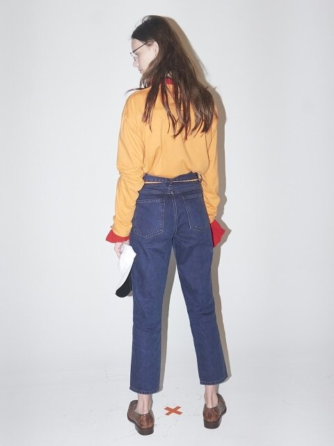 TIN DENIM PANTS-VIOLET