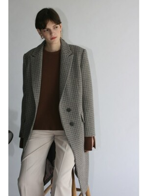 Tailored Double-face Wool Coat /Beige