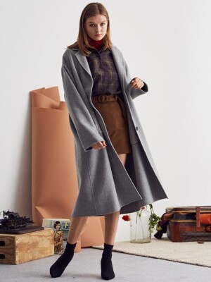 L SINGLE HANDMADE COAT(GRAY)