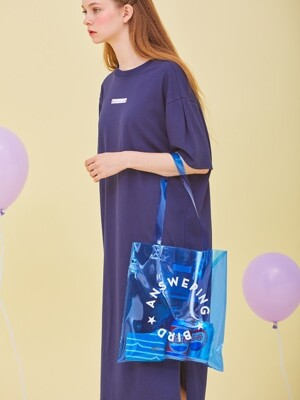 PANTONE BEACH BAG-WH PK BL