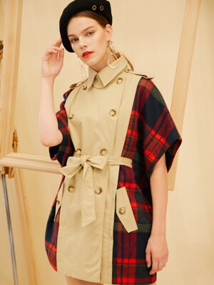 TRENCH CHECK COAT [FC-CO-555]