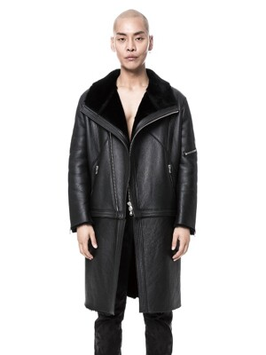 Trans Leather Mutton Jacket 변형 트랜스 무스탕