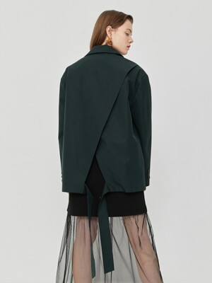 R BACK OVERLAP JACKET_DARK GREEN