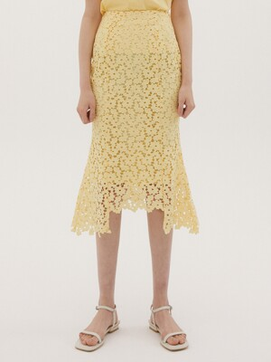 SENTIMENTAL SKIRT LEMON YELLOW