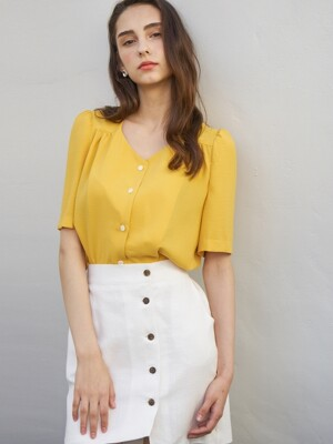 PEARL HALF BLOUSE YELLOW