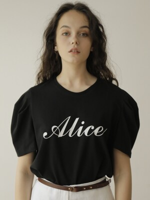 19SS ALICE PUFF TEE /BLACK