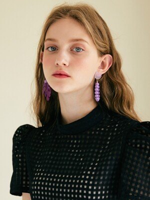 Tropical Earring _ Violet