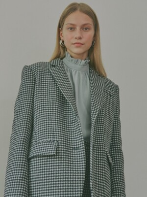 Bella Belted Tailored Blazer_Gingham Check