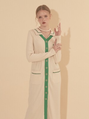 Sailor Collar Cardigan_ Ivory