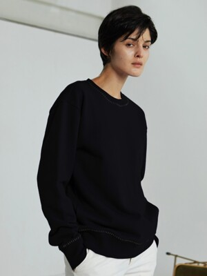 MELODY BASIC SWEATSHIRT_BLACK